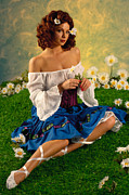 Glamour Framed Prints - Pin-up Summer Framed Print by Glenn Specht