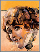 Pin Up Posters - Pin Up With Blond Curly Hair Poster by Rolf Armstrong