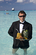 Waiter Photos - Pina Colada Anyone by David Smith