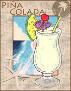 Island Art Pastels Prints - Pina Colada Print by William Depaula