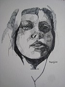 Ink Paintings - Pina by Ray Agius
