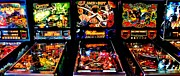 80s Framed Prints - Pinball Panorama Framed Print by Benjamin Yeager