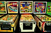 1970s Prints - Pinball Past Time Print by Benjamin Yeager