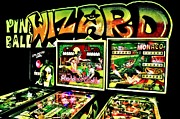 Vintage Video Game Framed Prints - Pinball Wizard Framed Print by Benjamin Yeager