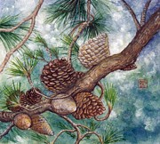 Pine Cone Print by Tomoko Koyama