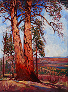 Zion Paintings - Pine Shadows by Erin Hanson
