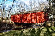 Bill Cannon Framed Prints - Pine Valley Covered Bridge in Bucks County Pa Framed Print by Bill Cannon