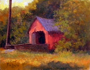 Covered Bridge Painting Metal Prints - Pine Valley Covered Bridge Metal Print by Kit Dalton