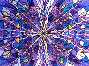 Geometric Painting Prints - Pineal Opening Print by Teal Eye  Print Store