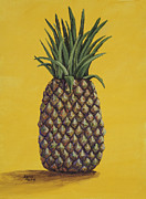 Interior Still Life Painting Metal Prints - Pineapple 4 Metal Print by Darice Machel McGuire