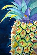 Pi Painting Posters - Pineapple Poster by Carlin Blahnik