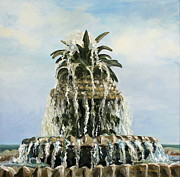 Graves Paintings - Pineapple Fountain by Lisa Graves