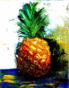 Pallet Knife Painting Originals - Pineapple by Jamie Howes