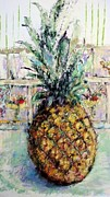 With Pastels Originals - Pineapple by Lu Harris