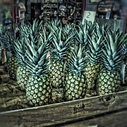 Pineapples Photos - Pineapple Push by Mike Russell
