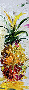 Decorative Abstract Acrylic Prints - Pineapple Triptych Part 2 Acrylic Print by Ginette Callaway