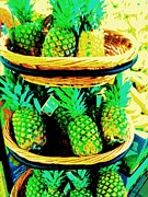 Pineapples Photos - Pineapples by Linda Wild