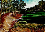 Tiger Woods Paintings - Pinehurst by Lil Taylor