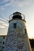 Lighthouse Digital Art - Piney Point Maryland Lighthouse by Bill Cannon