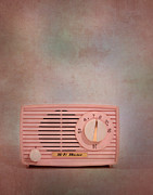 Midcentury Prints - Pink AM Radio Print by David and Carol Kelly
