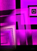 Pink Art Design In Digital Art Print by Mario  Perez