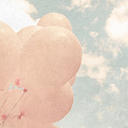 Breast Cancer Art - Pink Balloons Blue Sky by Brooke Ryan
