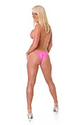 Slim Photo Prints - Pink Bikini Back Side Print by Jt PhotoDesign