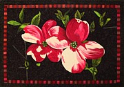 Dogwood Tapestries - Textiles - Pink Blossoms by Lenore Crawford