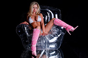 Playboy Bunny Prints - Pink Boots Print by Jt PhotoDesign