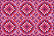 Op Art Digital Art Posters - Pink Bumps Poster by Chris Long