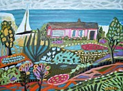 Karen Fields - Pink Bungalow On The...