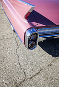 Custom Car Photos - Pink Caddillac by Holly Martin
