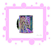 New Glass Art - Pink Card by Oksana Semenchenko