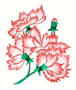 Carnation Painting Metal Prints - Pink Carnation Metal Print by Donna Jean Carver