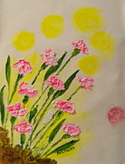 Carnations Paintings - Pink Carnations by Rich Mason