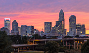 Chris Austin Framed Prints - Pink Charlotte Sunset Framed Print by Chris Austin