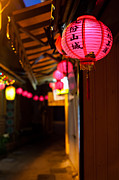 Night Lamp Prints - Pink Chinese lantern Print by Fototrav Print