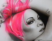 Musician Paintings - Pink by Christian Chapman Art