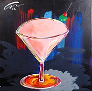 Challenging Painting Prints - Pink Cosmo Print by Mac Worthington