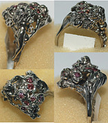 Floral Ring Jewelry - Pink diamond fairy ring by Michelle  Robison