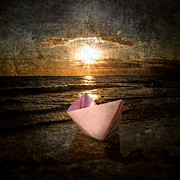 Toy Boat Digital Art Prints - Pink Dreams Print by Stylianos Kleanthous