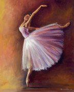 Dance Prints - Pink Elegance Print by Desiree  Rose