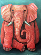 Leah Saulnier The Painting Maniac - Pink Elephant edit 2