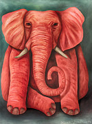 Leah Saulnier The Painting Maniac - Pink Elephant edit 3