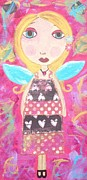 Angel Paintings - Pink Fairy by Kerri Ambrosino GALLERY