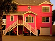 Kendall Photo Posters - Pink Flamingos at Isle of Palms Poster by Kendall Kessler