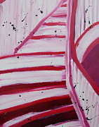Bannister Painting Metal Prints - Pink Flight Metal Print by Sara Gardner