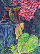 Impressionist Mixed Media - Pink Flowers This Time by Kendall Kessler