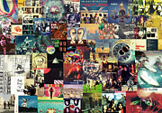 Collage Poster Framed Prints - Pink Floyd Collage II Framed Print by Taylan Soyturk