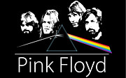 Pink Framed Prints - Pink Floyd Dark Side of The Moon Poster Framed Print by Sanely Great